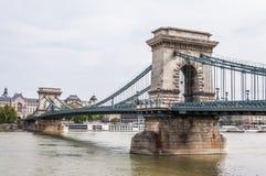 Chain Bridge over Danube river Stock Photography