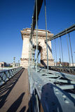 Chain Bridge over Danube river in Budapest Royalty Free Stock Images
