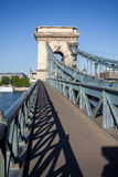 Chain Bridge over Danube river in Budapest Stock Photography