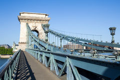 Chain Bridge over Danube river in Budapest Stock Images