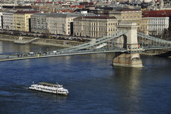 Chain Bridge over the Danube Royalty Free Stock Photography