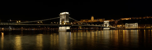Chain Bridge and Royal palace royalty free stock photos