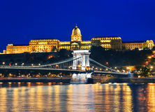 Chain Bridge and Royal Palace Royalty Free Stock Photo