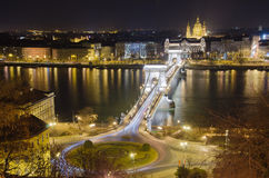 Chain Bridge and St. Stephen's Royalty Free Stock Photography