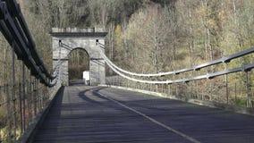 Chain Bridge is a suspension bridge on the river stock video