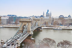 Chain Bridge ,Budapest, Hungary Royalty Free Stock Photography