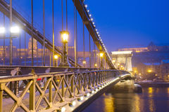Chain Bridge,  Budapest, Hungary Royalty Free Stock Photos