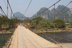Chain bro, Vang Vieng, Laos, Asien Arkivbilder