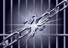 Chain is broken Royalty Free Stock Images
