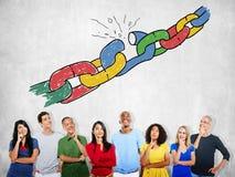 Chain Broken Stress Pressure Freedom Concept.  Stock Image