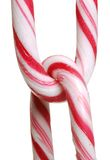 Chain of candy canes Royalty Free Stock Image