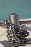 Chain on catamaran. A ship chain used on a mauritian catamaran Stock Image