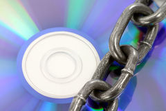 Chain and cd Stock Photo