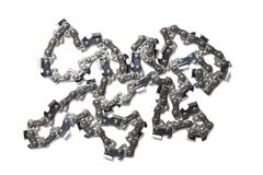Chain for chainsaw. New chain spare part for chainsaw isolated on white background. High resolution photo. Full depth of field stock photos