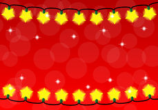 Chain of christmas lights Stock Photography