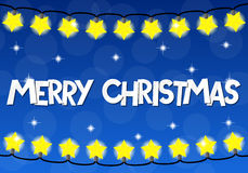 Chain of christmas lights Stock Photo