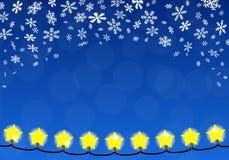 Chain of christmas lights Stock Image