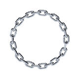 Chain chrome metal frame circle shape Stock Images