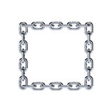 Chain chrome metal frame rectangle shape Stock Photos