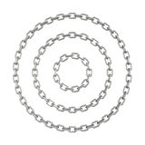 Chain circles isolated on a white background Stock Photo