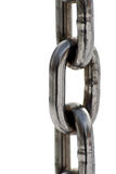 Chain Close up. Metal chain on the white background Royalty Free Stock Images
