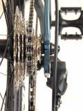 Chain and cogwheels on bicycle Royalty Free Stock Photos