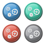 Chain with cogwheels icon Stock Photos