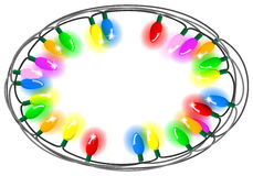 Chain of colorful lights Royalty Free Stock Photo