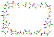 Chain of colorful lights Stock Photos