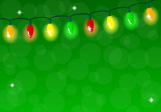Chain of colorful lights Royalty Free Stock Photos