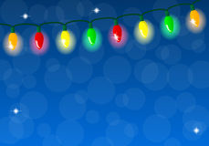 Chain of colorful lights Royalty Free Stock Images