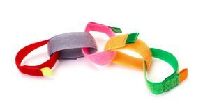 Chain from Colorful Velcro Strips Stock Photography