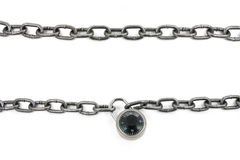 Chain and combination lock Royalty Free Stock Images