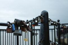 A chain of commitments royalty free stock photo