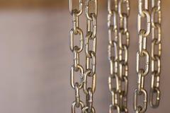 Chain element on black background