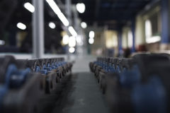 Chain conveyor line. In assembly Stock Photography