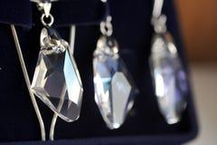 chain crystal örhängehänge Royaltyfria Bilder