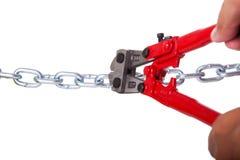 chain cuting Royaltyfri Foto
