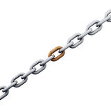 Chain 3d render isolated Royalty Free Stock Images