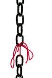 chain defekt rymd ståltråd tillsammans Royaltyfri Foto