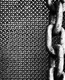 Chain on diamond metal Stock Image