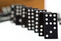 Chain of dominoes Royalty Free Stock Photography