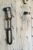 Chain on door Stock Images