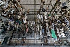 Chain dressing room in Landek park Stock Photos