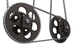 Chain drive Royalty Free Stock Photos