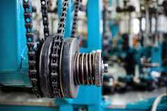 Chain drive, drive element of braiding machine. Stock Image