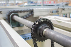 The chain drive shaft Line Conveyor Industrial Royalty Free Stock Images