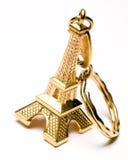 chain eiffel key souvenirtorn Royaltyfri Fotografi
