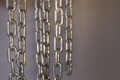 Chain element on black background