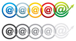 Chain email concept Stock Image